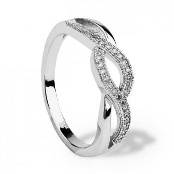 КАПЕЛЬ кольцо из серебра с фианитами