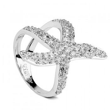 МОРСКАЯ ЗВЕЗДА кольцо из серебра с фианитами