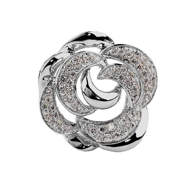 Серебряная подвеска SKAZKA с культивированным жемчугом, перламутром, цирконом артикул 03101