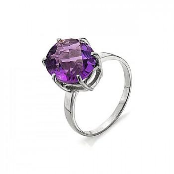 АСТЕРОИД кольцо из серебра с аметистом