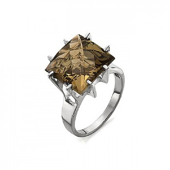 ШОКОЛАД кольцо из серебра с раухтопазом