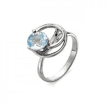 ЛИАНА кольцо из серебра с топазом