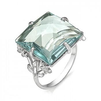 ВОСПОМИНАНИЕ кольцо из серебра с аквамариновым кварцем