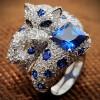 КОТ ЛЕОПОЛЬД серебряное кольцо с фианитами
