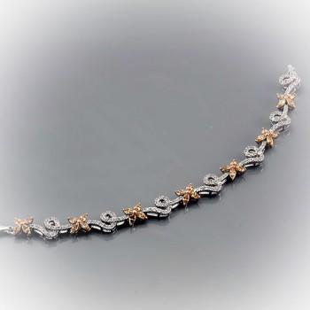 АЛЕКСАНДРА браслет из серебра с фианитами