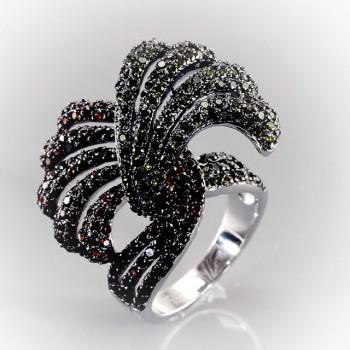 ЖИЗЕЛЬ кольцо из серебра с фианитами