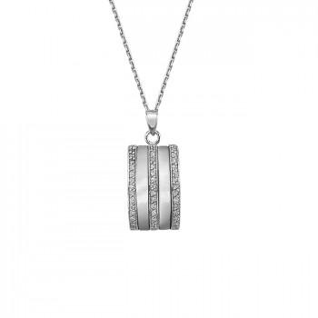 ЭДИТ серебряная подвеска с фианитами