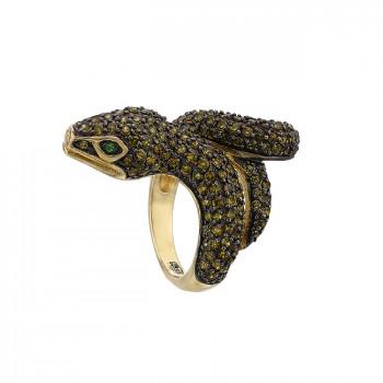 АСПИРИДА серебряное кольцо с фианитами
