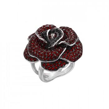 РОЗИТА серебряное кольцо с фианитами