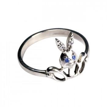 ЗАЙЧИК серебряное кольцо для детей