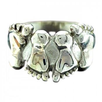 ВДВОЁМ серебряное кольцо