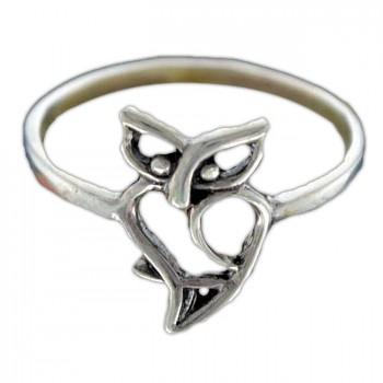 СОВУШКА кольцо из серебра